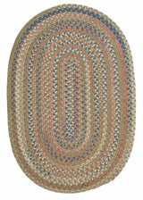 Cedar Cove CV69 Olive Green Braided Rug by Colonial Mills
