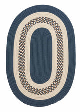 Crescent NT51 Lake Blue Braided Rug by Colonial Mills