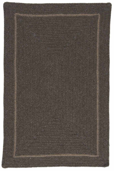 Shear Natural EN35 Rural Earth Modern Braided Wool Rug by Colonial Mills