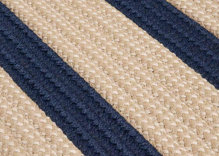 Boat House BT59 Navy Braided Indoor Outdoor Rug by Colonial Mills - Select Area Rugs