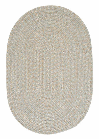 Tremont TE69 Moss Green Braided Wool Rug by Colonial Mills
