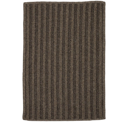 Woodland Rect OL93 Brown Braided Wool Rug by Colonial Mills
