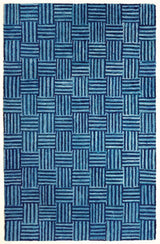 Cobalt Blue Modern Moroccan Rug | Susa Blue Skies by Anji Mountain