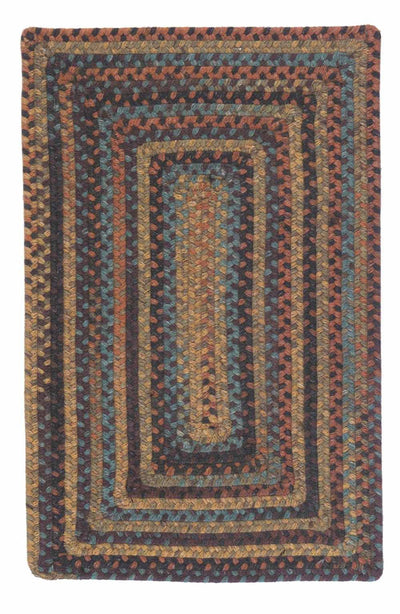 Ridgevale RV20 Floral Burst Braided Wool Rug by Colonial Mills