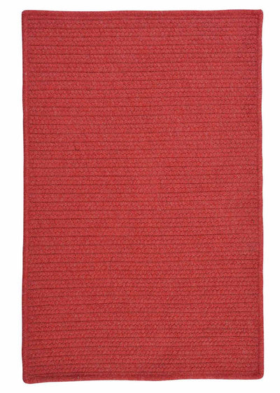 Courtyard CY52 Red Braided Wool Rug by Colonial Mills