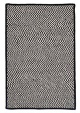 Outdoor Houndstooth Tweed OT49 Black Braided Rug by Colonial Mills