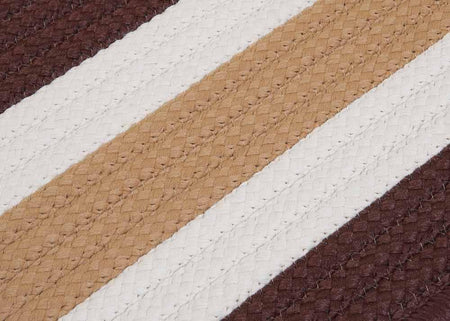 Portico PO89 Espresso Brown Braided Striped Outdoor Rug by Colonial Mills - Select Area Rugs