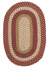 Pattern-Made FM79 Red Multi Braided Rug by Colonial Mills
