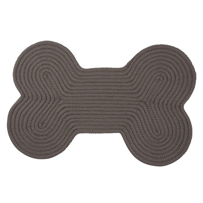 Dog Bone Solid H661 Gray Braided Rug by Colonial Mills