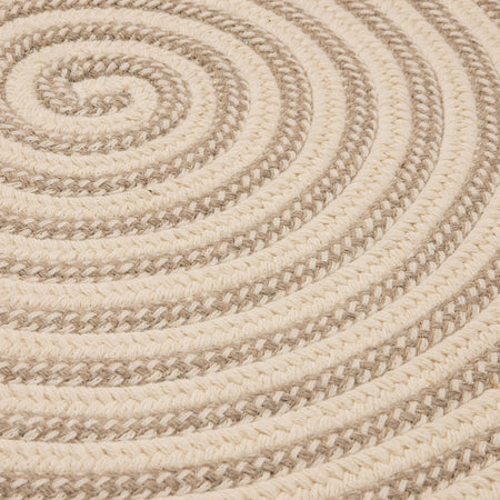 Woodland Round RD-OL13 Natural Braided Wool Rug by Colonial Mills - Select Area Rugs