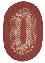 Jackson JK70 Rosewood Braided Wool Rug by Colonial Mills