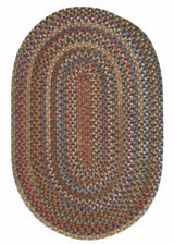Oak Harbour OH48 Dusk Braided Wool Rug by Colonial Mills