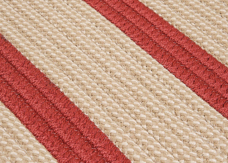 Boat House BT79 Rust Red Braided Indoor Outdoor Rug by Colonial Mills - Select Area Rugs