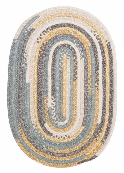 Print Party - Ovals PY39 Shaded Yellow Transitional Rug by Colonial Mills