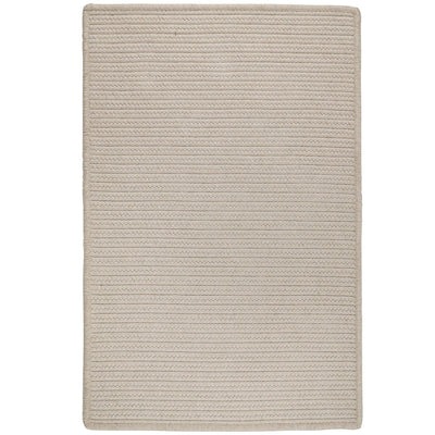 Sunbrella Solid LS10 Papyrus Braided Rug by Colonial Mills