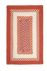 Montego MG79 Bonfire Red Braided Rug by Colonial Mills