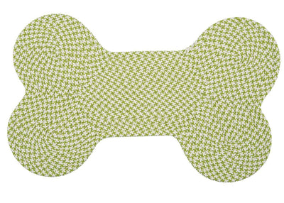 Dog Bone Hounds-tooth Bright OT69 Lime Braided Rug by Colonial Mills