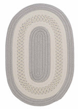 Crescent NT31 Silver Braided Rug by Colonial Mills