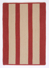 Boat House BT79 Rust Red Braided Indoor Outdoor Rug by Colonial Mills