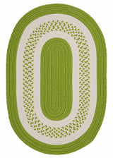 Crescent NT62 Bright Green Braided Rug by Colonial Mills