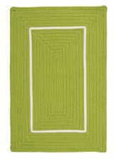 Doodle Edge FY62 Bright Green Braided Rug by Colonial Mills