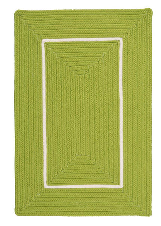 Doodle Edge FY62 Bright Green Braided Rug by Colonial Mills - Select Area Rugs
