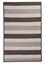 Stripe It TR09 Silver Indoor/Outdoor Rug by Colonial Mills