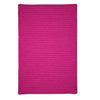 Simply Home Solid H930 Magenta Braided Ultra Durable Rug by Colonial Mills