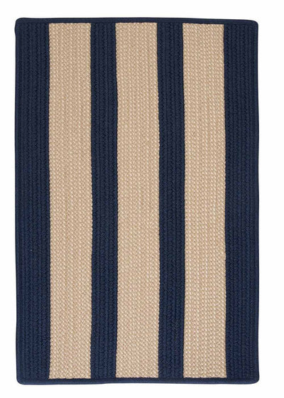 Boat House BT59 Navy Braided Indoor Outdoor Rug by Colonial Mills