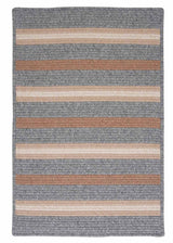 Salisbury LY19 Gray Braided Wool Rug by Colonial Mills