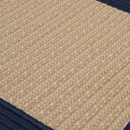 Navy Bordered Braided Rug | Free Shipping | Made in USA - Select Area Rugs
