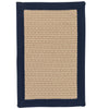 Navy Bordered Braided Rug | Free Shipping | Made in USA