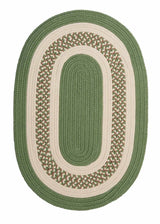 Crescent NT61 Moss Green Braided Rug by Colonial Mills