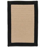 Bayswater BY13 Black Braided Rug by Colonial Mills