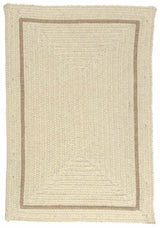 Shear Natural EN30 Canvas Modern Braided Wool Rug by Colonial Mills