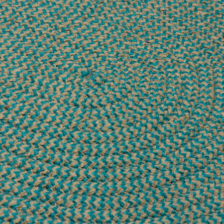 Softex Check CX35 Teal Check Braided Rug by Colonial Mills - Rug