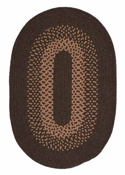 Madison MD84 Roasted Brown Braided Wool Rug by Colonial Mills