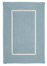 Doodle Edge FY32 Light Blue Braided Rug by Colonial Mills