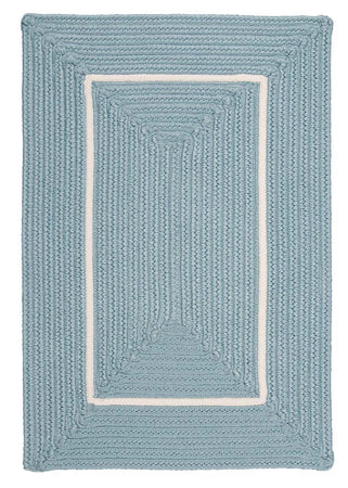 Doodle Edge FY32 Light Blue Braided Rug by Colonial Mills - Select Area Rugs