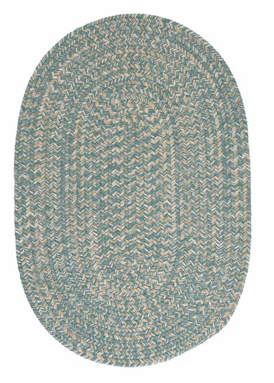 Tremont TE49 Teal Braided Wool Rug by Colonial Mills