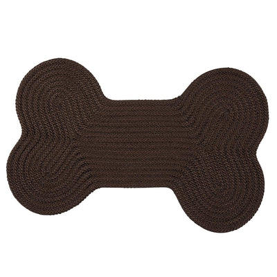 Dog Bone Solid H413 Mink Braided Rug by Colonial Mills