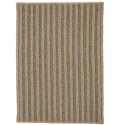 Woodland Rect OL83 Dark Natural Braided Wool Rug by Colonial Mills