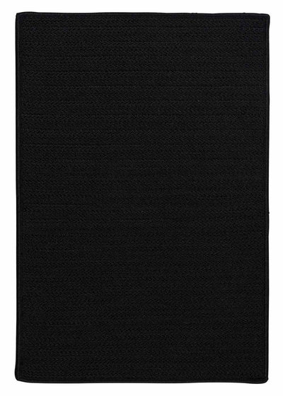 Simply Home Solid H031 Black Indoor/Outdoor Ultra Durable Rug by Colonial Mills
