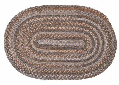 Oak Harbour OH98 Graphite Braided Wool Rug by Colonial Mills