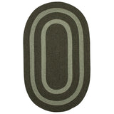 Graywood GW63 Moss Green Braided Wool Rug by Colonial Mills