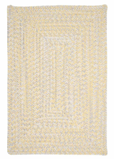 Catalina CA39 Sun-soaked Yellow Braided Indoor Outdoor Rug by Colonial Mills