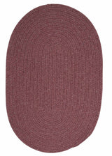 Bristol WL06 Dark Plum Braided Wool Rug by Colonial Mills