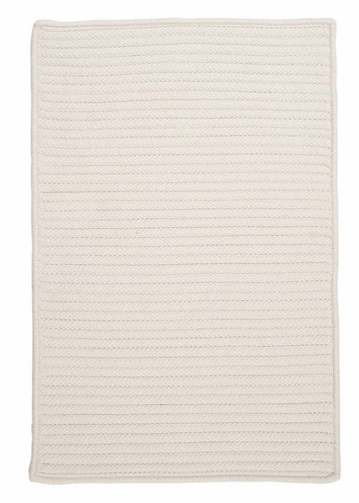 Simply Home Solid H141 White Indoor/Outdoor Ultra Durable Rug by Colonial Mills