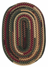 Market Mix Oval MM01 Winter Braided Rug by Colonial Mills