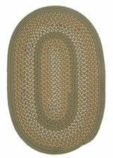 Georgetown GT60 Olive Braided Rug by Colonial Mills